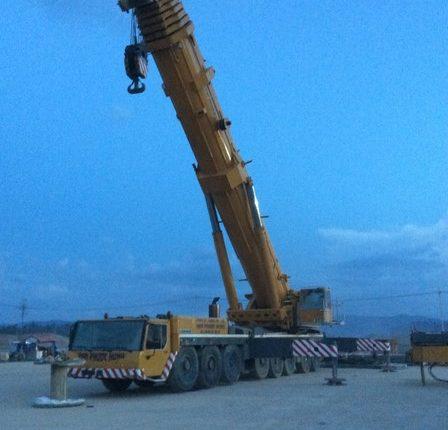 Vận chuyển đến nơi an toàn cẩu bánh lốp 500 tấn LTM1500-8.1